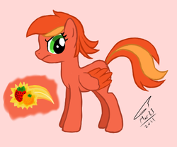 Size: 451x375 | Tagged: artist:kudalyn, ask, oc, oc only, oc:strawberry orange, questionthekudas, safe, solo, tumblr