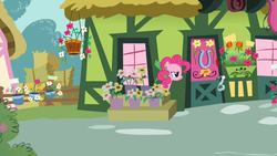 Size: 1366x768 | Tagged: safe, screencap, gummy, pinkie pie, party of one, solo