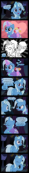 Size: 4000x23608 | Tagged: safe, artist:jeatz-axl, trixie, alicorn, pony, absurd resolution, alicornified, bouquet, comic, facehoof, female, flower, grin, lesbian, levitation, magic, mirror universe, narcissism, race swap, self ponidox, selfcest, smiling, the magician and the princess, trixiecorn