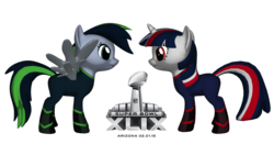 Size: 1500x844 | Tagged: safe, american football, new england, new england patriots, nfl, ponified, ponylumen, seaddle, seattle, seattle seahawks, super bowl, super bowl xlix