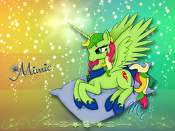 Size: 1400x1050   Tagged: safe, artist:sunsetsovereign, mimic (g1), alicorn, pony, g1, race swap, solo