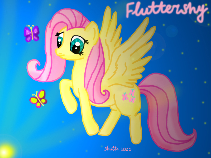 fluttershy flying with butterflies - 800×600