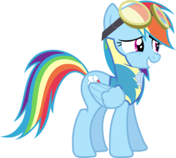 Size: 3999x3607 | Tagged: artist:irisiter, rainbow dash, safe, simple background, smiling, solo, transparent background, vector, wonderbolts academy, wonderbolt trainee uniform
