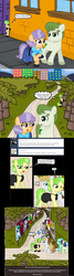 Size: 582x2177 | Tagged: safe, artist:ficficponyfic, bon bon, chickadee, lyra heartstrings, ms. peachbottom, sweetie drops, oc, oc:burly beryl, zebra, alternate hairstyle, jezzie belle