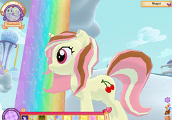 Size: 1018x713 | Tagged: legends of equestria, oc, oc only, oc:sundae supreme, safe, screencap, solo