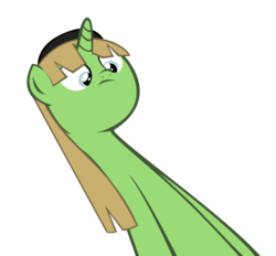Size: 928x860 | Tagged: safe, artist:mlp-scribbles, oc, oc only, oc:buttercheese, do not want, long neck, meme, simple background, solo, transparent background, vector