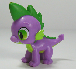 Size: 661x600 | Tagged: safe, spike, all fours, gift set, irl, photo, quadrupedal spike, solo, toy
