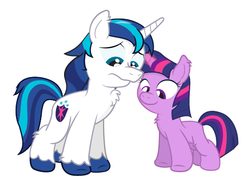 Size: 527x387   Tagged: safe, artist:dm29, shining armor, twilight sparkle, unicorn, blank flank, brother and sister, chest fluff, colt, colt shining armor, cute, duo, female, filly, filly twilight sparkle, fuzznums, male, siblings, smiling, sparkle siblings, wip, younger