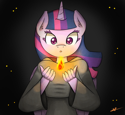 Size: 1200x1100 | Tagged: safe, artist:wolfy-pony, twilight sparkle, anthro, crossover, dark souls, female, fire, solo, twilight sparkle (alicorn)