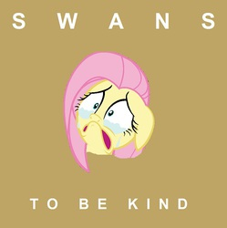 Size: 498x499 | Tagged: safe, fluttershy, album, cover, crying, parody, ponified