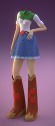 Size: 432x981 | Tagged: 3d, 3d model, applejack, artist:creatorofpony, belt buckle, boots, dullahan, equestria girls, headless, /mlp/, rainbow rocks, safe, solo, that is my fetish