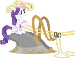 Size: 1286x1000 | Tagged: artist:seahawk270, plow, rarity, rhinestone rarihick, riding, safe, simple background, simple ways, solo, transparent background, vector