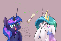 Size: 1748x1181 | Tagged: safe, artist:underpable, princess celestia, princess luna, pony, crusaders of the lost mark, blushing, clapping, crying, cute, cutelestia, dragon mail, female, floppy ears, letter, lunabetes, mare, puffy cheeks, shivering, simple background, smiling, tears of joy, underhoof, underpable is trying to murder us