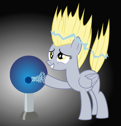 Size: 2400x2500   Tagged: safe, artist:snapshot1994, derpy hooves, pegasus, pony, slice of life (episode), female, mare, solo, tesla ball