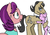 Size: 630x436 | Tagged: safe, artist:rocketp0ne, diamond tiara, filthy rich, spoiled rich, crusaders of the lost mark, consoling, crying, divorce, equestria's best father, equestria's worst mother, scowl, spoiled bitch, spoiled rich drama, spoilthy, sweatdrop, tiaralove