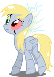 Size: 1394x1980 | Tagged: safe, artist:bloatable, derpibooru exclusive, derpy hooves, pegasus, pony, robot, robot pony, derpybot, error, female, glitch, malfunction, mare, scrunchy face, short circuit, simple background, solo, transparent background, vector