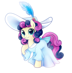 Size: 850x864 | Tagged: dead source, source needed, useless source url, safe, artist:licora, bon bon, sweetie drops, earth pony, pony, a canterlot wedding, crusaders of the lost mark, for whom the sweetie belle toils, magical mystery cure, princess spike (episode), sweet and elite, adorabon, beautiful, bonabelle bonette, clothes, cute, dress, featured image, female, formal, formal attire, formal dress, formal wear, hat, looking at you, mare, raised hoof, simple background, smiling, solo, sweetiebelle dropsette, white background