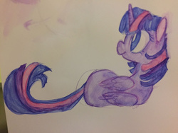 Size: 1280x960 | Tagged: safe, artist:whale, twilight sparkle, alicorn, pony, female, mare, solo, traditional art, twilight sparkle (alicorn), watercolor painting