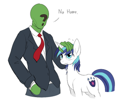 Size: 856x722 | Tagged: artist needed, safe, color edit, edit, shining armor, oc, oc:anon, human, pony, unicorn, clothes, colored, cute, dialogue, drawthread, human male, male, no homo, not gay, petting, shining adorable, simple background, wavy mouth, white background, wide eyes