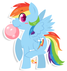 Size: 716x756 | Tagged: safe, artist:mochi--pon, rainbow dash, bubblegum, cute, dashabetes, looking at you, solo