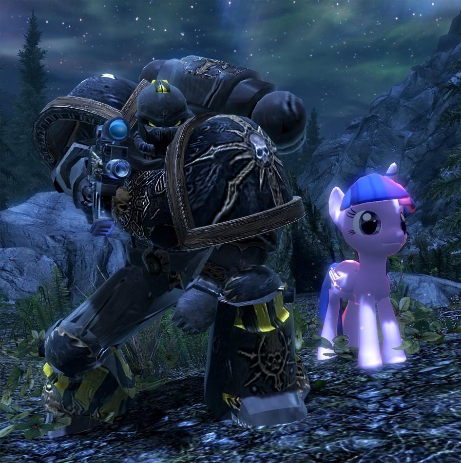 1007805 - 3d, alicorn, chaos space marine, iron warriors, mod, pony