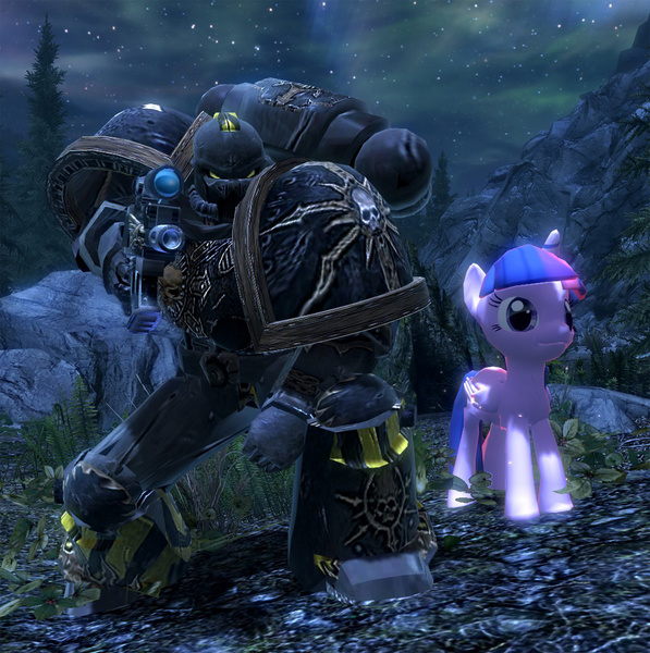 1007805 - 3d, alicorn, chaos space marine, iron warriors