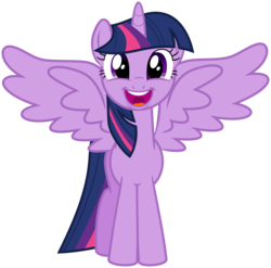 Size: 1678x1660 | Tagged: safe, artist:jp, derpibooru exclusive, twilight sparkle, alicorn, pony, the one where pinkie pie knows, .svg available, adorkable, cute, dork, female, mare, simple background, solo, svg, transparent background, twiabetes, twilight sparkle (alicorn), vector
