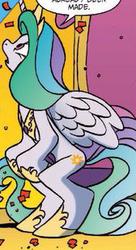 Size: 168x309 | Tagged: safe, artist:jay fosgitt, princess celestia, alicorn, pony, idw, spoiler:comic, spoiler:comicff22, anatomically incorrect, female, incorrect leg anatomy, solo