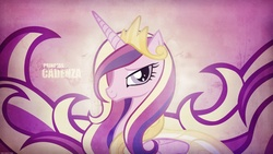 Size: 1920x1080 | Tagged: safe, artist:equestria-prevails, artist:prollgurke, edit, princess cadance, alicorn, pony, armor, bedroom eyes, cropped, female, jewelry, looking at you, mare, regalia, smiling, solo, wallpaper