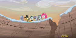 Size: 854x432 | Tagged: safe, screencap, cloudy quartz, igneous rock pie, limestone pie, marble pie, maud pie, pinkie pie, hearthbreakers, family, pie family, pie sisters, pie twins, quartzrock, sisters, twins, varying degrees of want