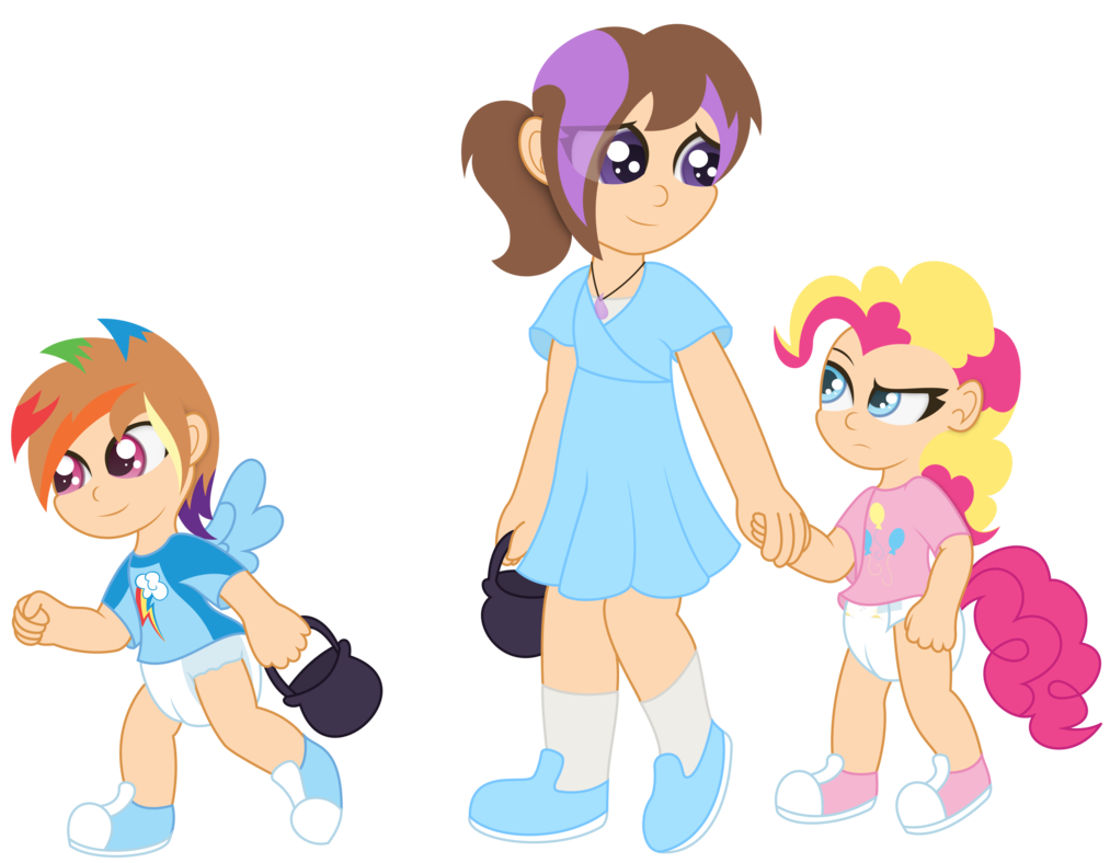 age regression ts #1011972 - age regression, artist:the-crusader-network, cute, diaper,  human, humanized, non-mlp oc, oc, pinkie pie, poofy diaper, pullup  (diaper), ...