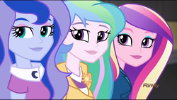 Size: 1360x768 | Tagged: safe, screencap, princess cadance, princess celestia, princess luna, equestria girls, friendship games, dean cadance, principal celestia, vice principal luna