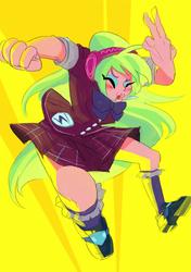 Size: 500x710 | Tagged: safe, artist:shiroino, lemon zest, equestria girls, friendship games, solo