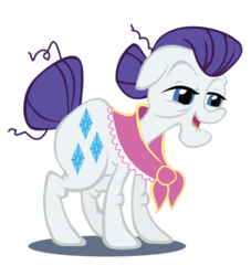 Size: 852x937 | Tagged: edit, granny smith, rarity, recolor, safe, simple background, tabitha st. germain, transparent background, vector, voice actor joke