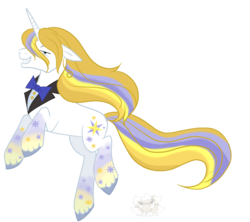 Size: 2253x1997 | Tagged: safe, artist:stagetechyart, prince blueblood, male, rainbow power, rainbow power-ified, simple background, smiling, solo, transparent background