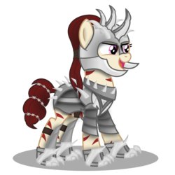 Size: 3000x3000 | Tagged: safe, artist:blue-strokes, oc, oc only, oc:rampage, fallout equestria, fallout equestria: project horizons, armor, barbed wire, simple background, solo, transparent background, vector