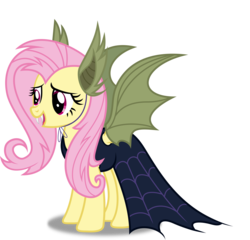 Size: 8000x7669 | Tagged: safe, artist:8-notes, fluttershy, bat pony, pony, scare master, absurd resolution, bat ears, cape, clothes, costume, female, flutterbat, flutterbat costume, nightmare night, nightmare night costume, open mouth, ponyscape, simple background, solo, transparent background, vector