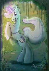 Size: 1024x1489 | Tagged: safe, artist:mad--munchkin, oc, oc only, oc:mythos gray, pony, unicorn, commission, dynamic pose, male, solo, stallion, watermark