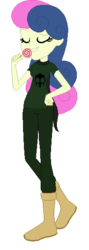 Size: 197x556 | Tagged: safe, artist:rexlupin, bon bon, sweetie drops, equestria girls, candy, crossover, food, god tier, hero of doom, homestuck, lollipop, simple background, solo, thief of doom, transparent background