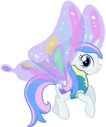 Size: 7606x9068 | Tagged: safe, artist:liggliluff, oc, oc only, oc:princess paradise, absurd resolution, butterfly wings, simple background, solo, tiara, transparent background, vector, wonderbolt trainee uniform