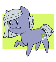 Size: 1000x1100 | Tagged: safe, artist:estrill, limestone pie, angry, chibi, frown, gritted teeth, raised hoof, solo