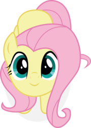 Size: 4772x6665   Tagged: safe, artist:owlisun, fluttershy, pegasus, pony, the hooffields and mccolts, absurd resolution, cute, female, looking at you, looking up, mare, shyabetes, simple background, smiling, solo, transparent background, vector