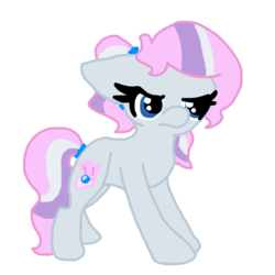 Size: 1200x1200 | Tagged: artist:spottedpool90, magical lesbian spawn, oc, oc only, oc:pearlie white, offspring, parent:diamond tiara, parent:silver spoon, parents:silvertiara, safe