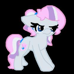Size: 1200x1200 | Tagged: safe, artist:spottedpool90, oc, oc only, oc:pearlie white, magical lesbian spawn, offspring, parent:diamond tiara, parent:silver spoon, parents:silvertiara