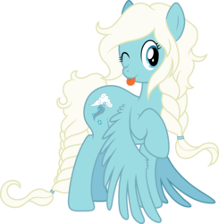 Size: 6000x6118 | Tagged: safe, artist:djdavid98, artist:lbellawinchesterl, oc, oc only, oc:shiveria candace snow, pony, absurd resolution, simple background, solo, tongue out, transparent background, vector, wink