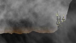 Size: 2400x1350 | Tagged: safe, artist:photonicsoup, canterlot, fog, lights, night
