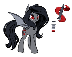 Size: 2949x2332 | Tagged: safe, artist:starshinebeast, oc, oc only, oc:silk, bat pony, pony, equestria2101, female, reference sheet, solo