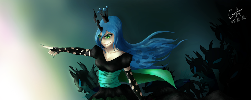 Chrysalis and the Humans  Fimfiction