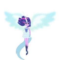 Size: 5042x5000   Tagged: safe, artist:xebck, twilight sparkle, equestria girls, friendship games, absurd resolution, alternate universe, beautiful, blue wings, daydream shimmer, daydream sparkle, daydream-ified, dream sparkle, female, simple background, solo, transparent background, vector