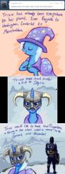 Size: 635x1681   Tagged: safe, artist:caitmoffitt, trixie, pony, unicorn, ask, comic, female, mare, parody, skyrim, solo, the elder scrolls, trixie-tales, tumblr